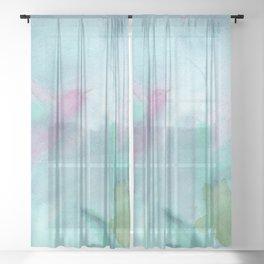 Hummingbird Selah - Aqua Sheer Curtain