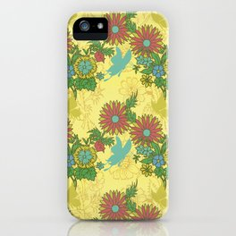 Garden Charm 8:  butterflies and blooms in fresh boho colors iPhone Case