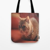 hunting Tote Bags featuring hunting by Catalina Matei
