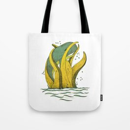 whale x tentacle Tote Bag