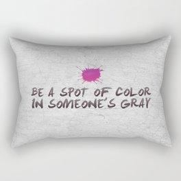 Spot of Color Rectangular Pillow