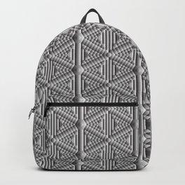 Grey Snowflakes Backpack