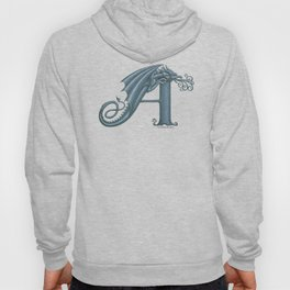 Dragon Letter A, from Dracoserific, a font full of Dragons. Hoody