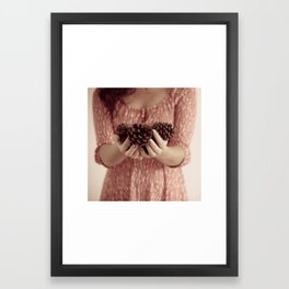 It's Pinecone Time Framed Art Print