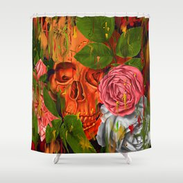 Colors of Death Shower Curtain