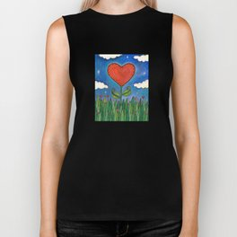 Let Love Grow Biker Tank