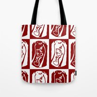 coke Tote Bags featuring Coke by WES EXOTIC IMAGERY