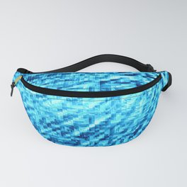 TURquoise Blue Pixel Wind Fanny Pack