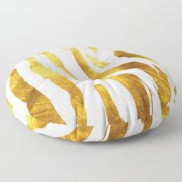 Gold Animal Print Floor Pillow