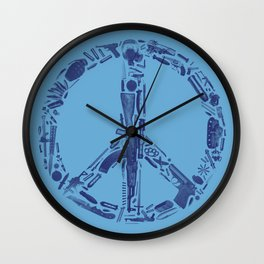 Find Peace (Blue) Wall Clock