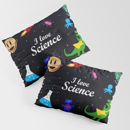 I Love Science Pillow Sham