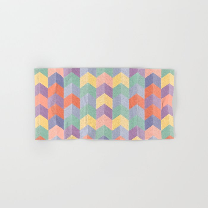 Colorful geometric blocks Hand & Bath Towel