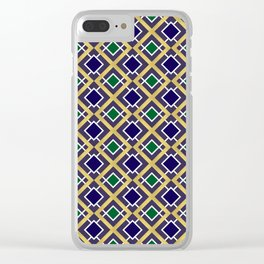 Gold and Jewels Clear iPhone Case