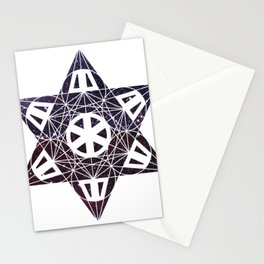 Metatron's Cube Time Wheel ~ Starry Night 2 Stationery Cards