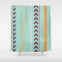 arrow Shower Curtains featuring arrow. by Wooden Wolves