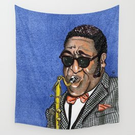 SAX PLAYER Wall Tapestry