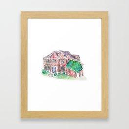 Custom House Painting Framed Art Print