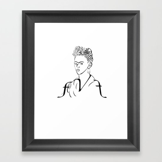 fk Framed Art Print