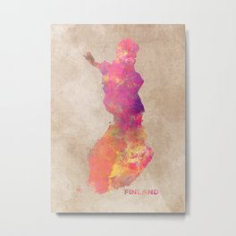 Finland map #finland #map Metal Print