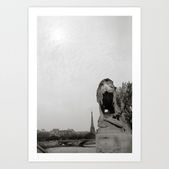 Paris Lion Art Print