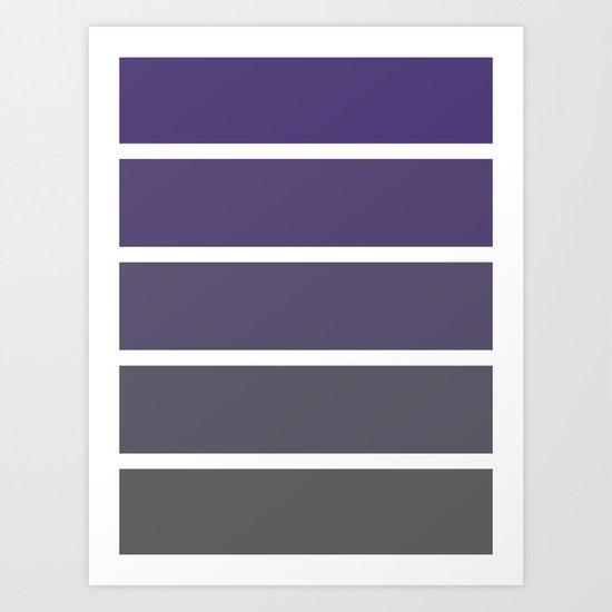 purple fade rectangles Art Print