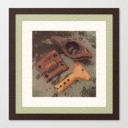 Iron, Wood, Copper Canvas Print