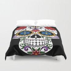 Colorful Sugar Skull Duvet Cover