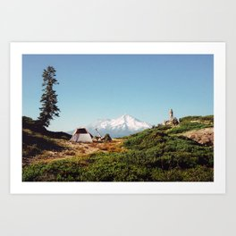 Visions of Mt Shasta Art Print