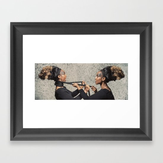 At War with Oneself Framed Art Print