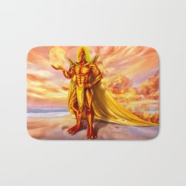 Dwain God of fire Bath Mat