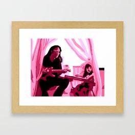 Eric Alper and daughter Framed Art Print
