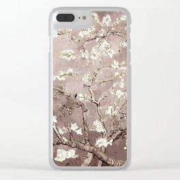Van Gogh Almond Blossoms Beige Taupe Clear iPhone Case
