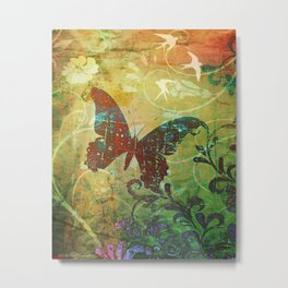 BUTTERFLY HAIKU Metal Print