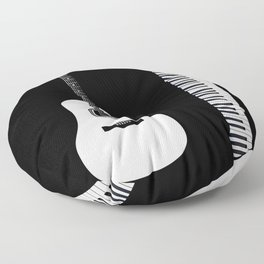 Guitar Piano Duo Floor Pillow