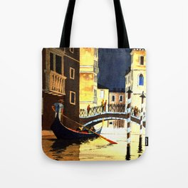 Evening In Venice Italy Tote Bag