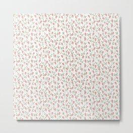 Rosebud Pattern- Light Background Metal Print
