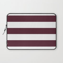 Light chocolate cosmos - solid color - white stripes pattern Laptop Sleeve