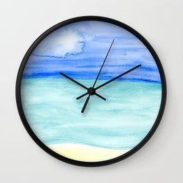 Zen Beach Wall Clock