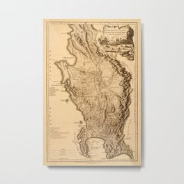 Map Of South Africa 1795 Metal Print