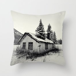 Trees on the roof Throw Pillow