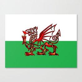 Welsh Dragon Knot Canvas Print