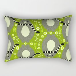 Bears and flowers in green Rectangular Pillow