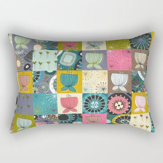 blooms patchwork Rectangular Pillow