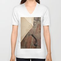 umbrella V-neck T-shirts featuring Umbrella by Maite Pons