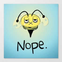 Zombie Bee/Zom-BEE - Give Me NOPE. Canvas Print