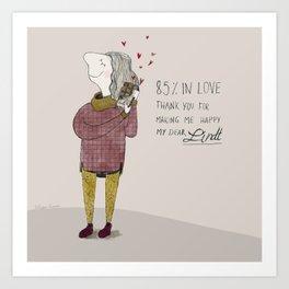 Dear Love Art Print