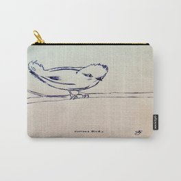 Curious Bird Ink Drawing Carry-All Pouch