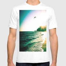 Fly By Mens Fitted Tee MEDIUM White