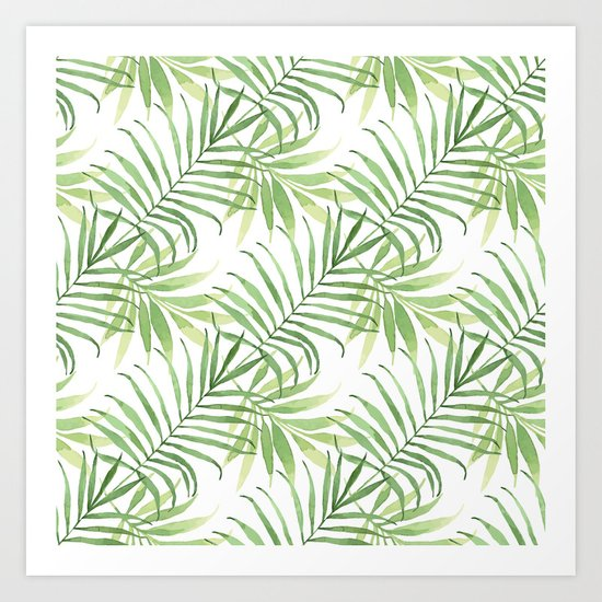 Tropical Branches Pattern 05 Art Print