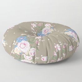 Heirloom Rose - Raw Umber Floor Pillow
